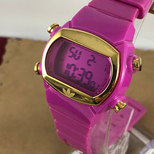 Adidas Pink and Gold Sports Watch